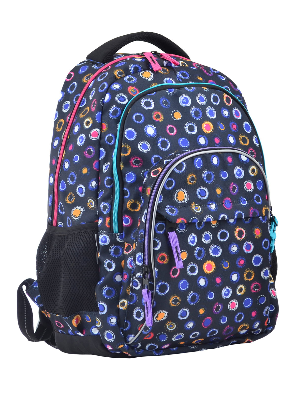 Рюкзак синій в принт | 4235708