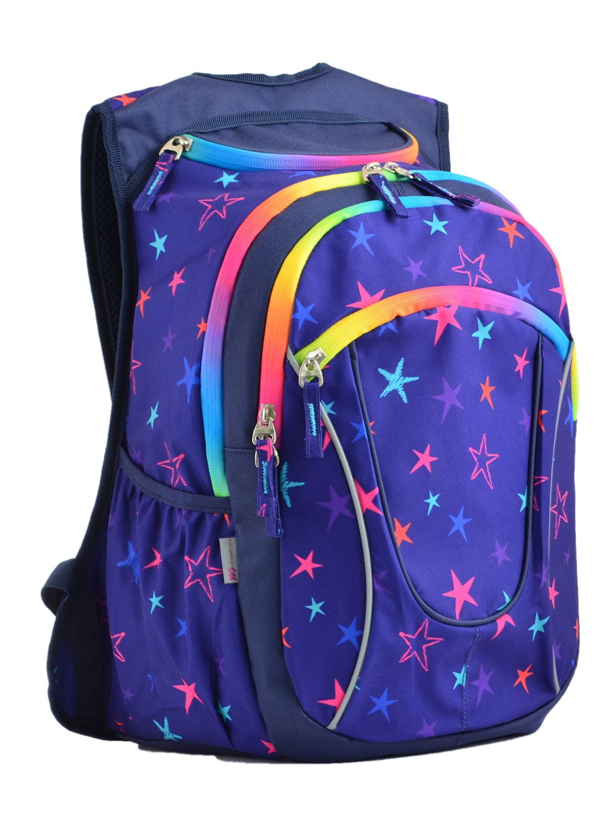 Рюкзак фіолетовий в принт | 4235723
