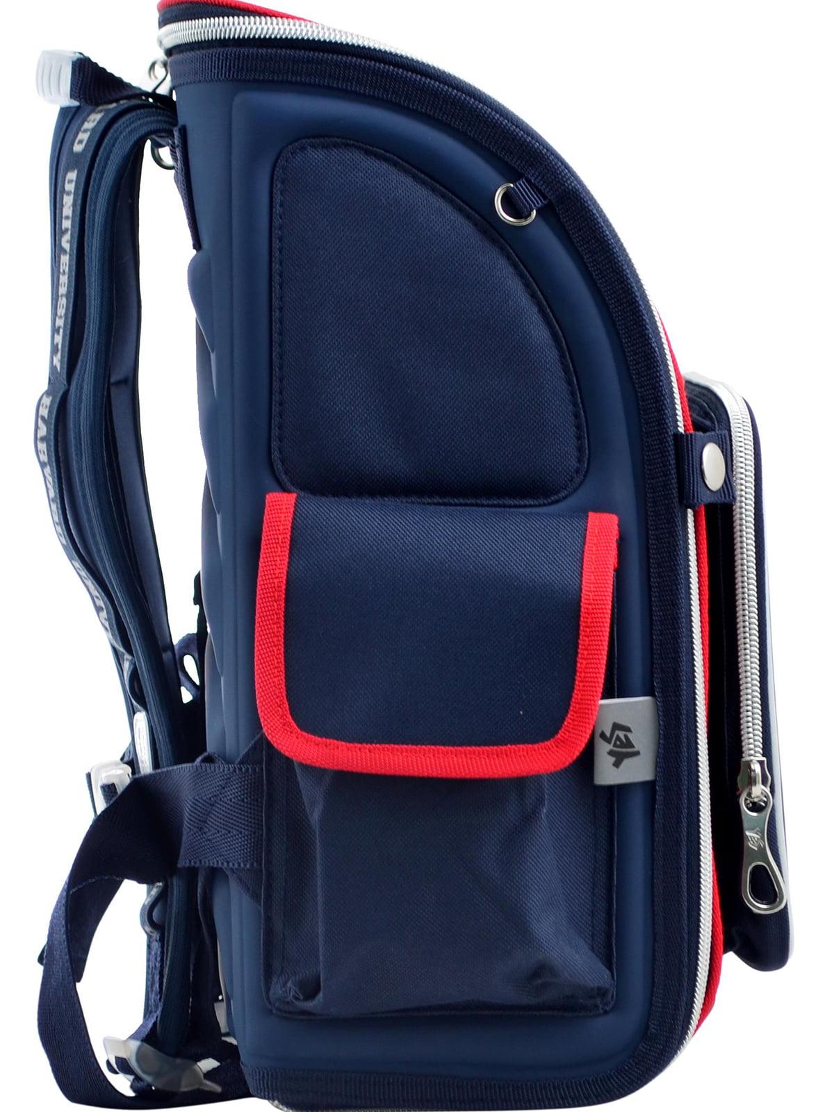Рюкзак синій з принтом | 4235773 | фото 2