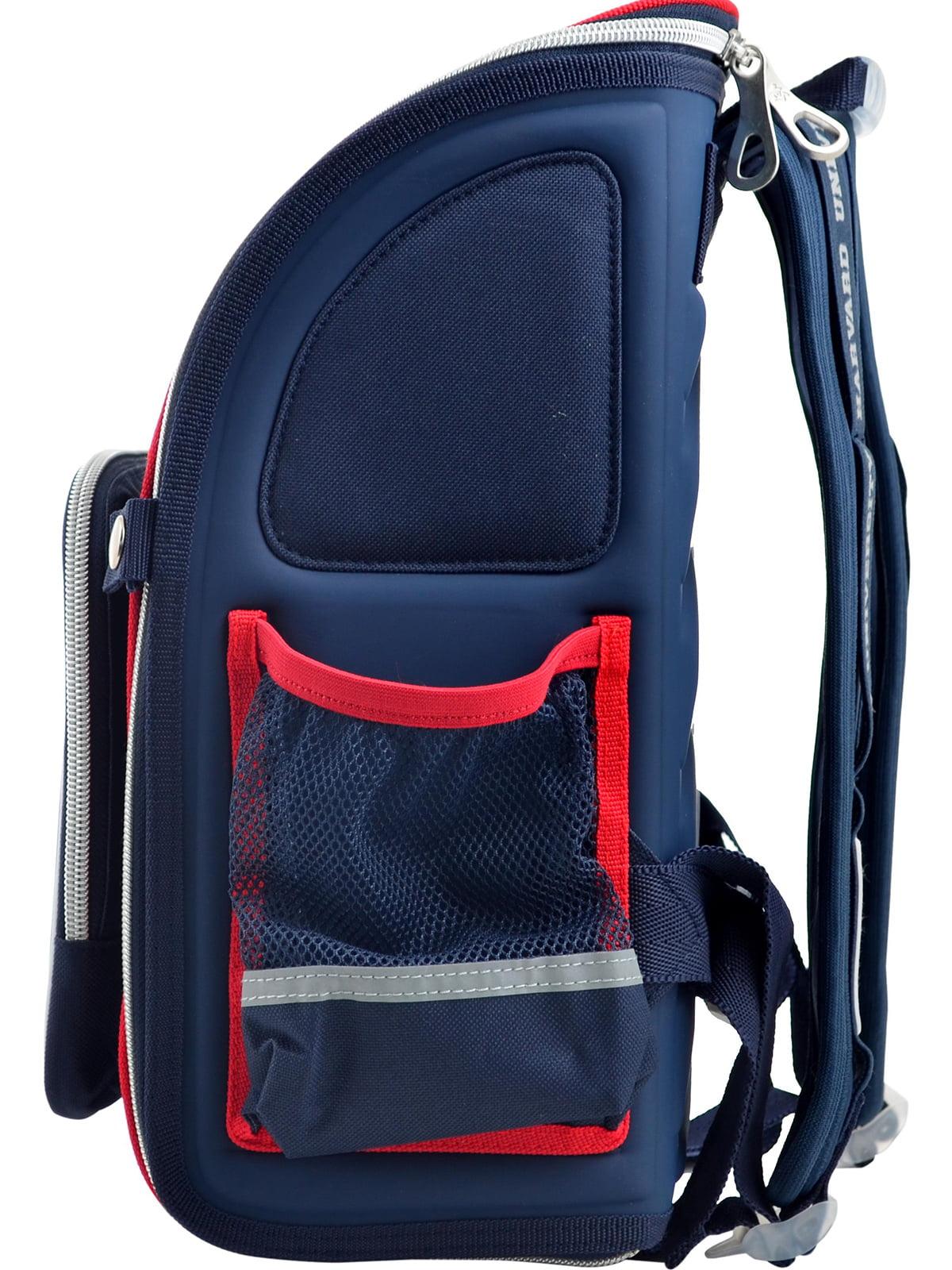 Рюкзак синій з принтом | 4235773 | фото 3