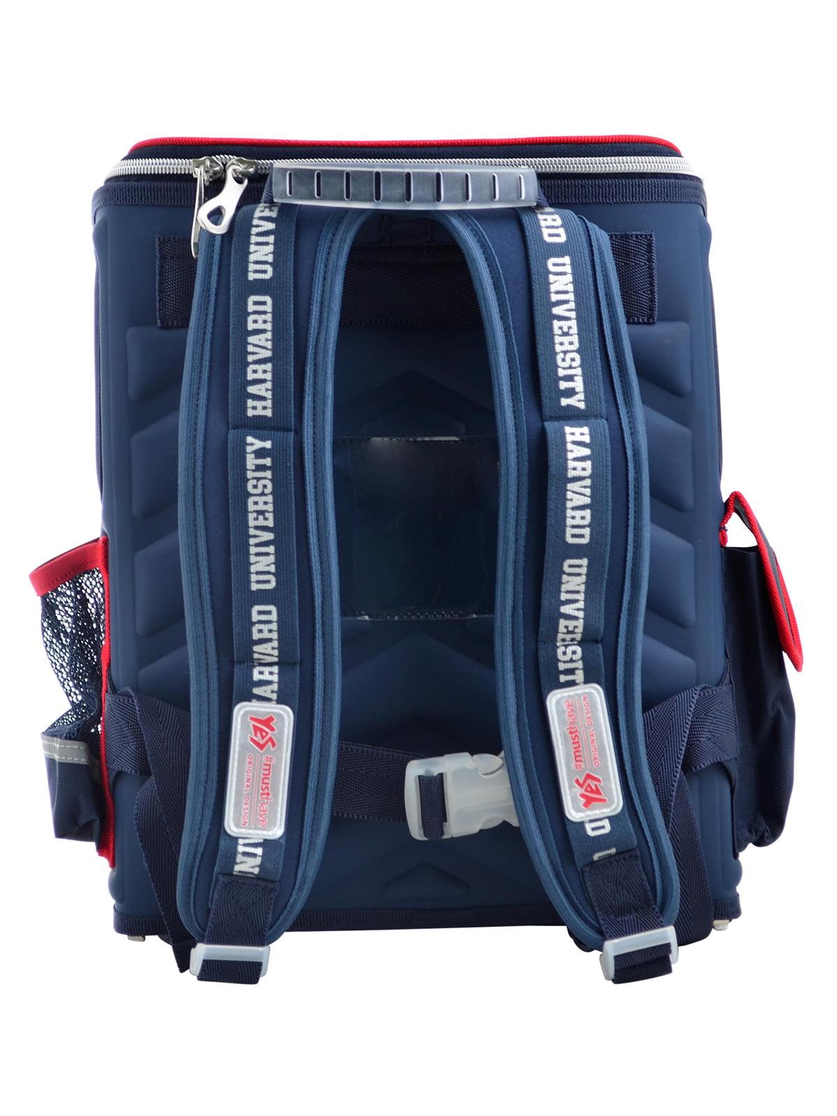 Рюкзак синій з принтом | 4235773 | фото 4