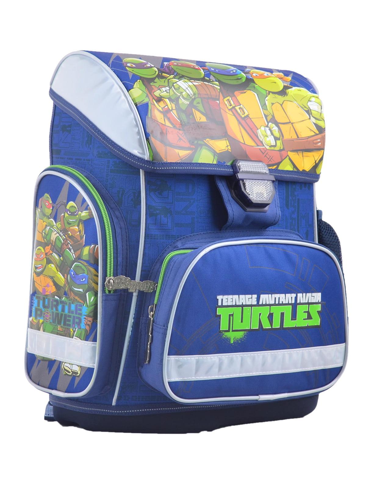 Рюкзак синій з принтом | 4235775