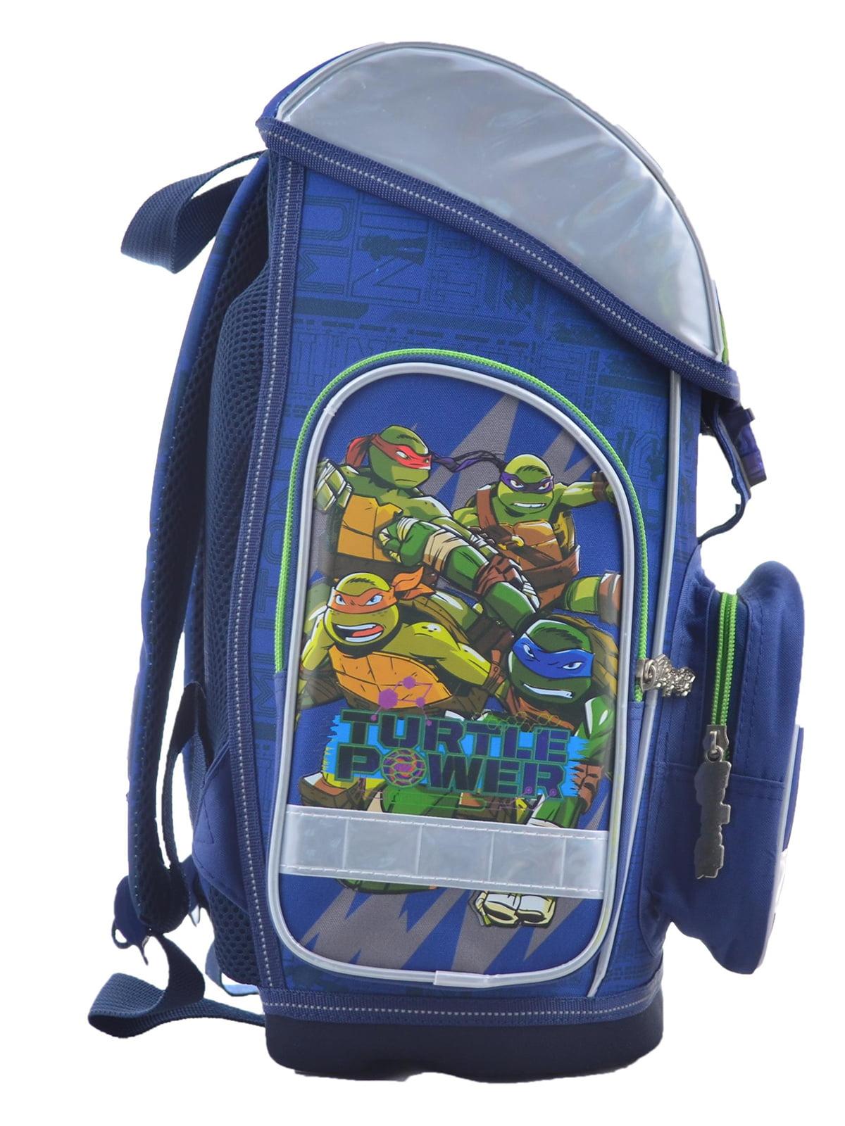 Рюкзак синій з принтом | 4235775 | фото 2