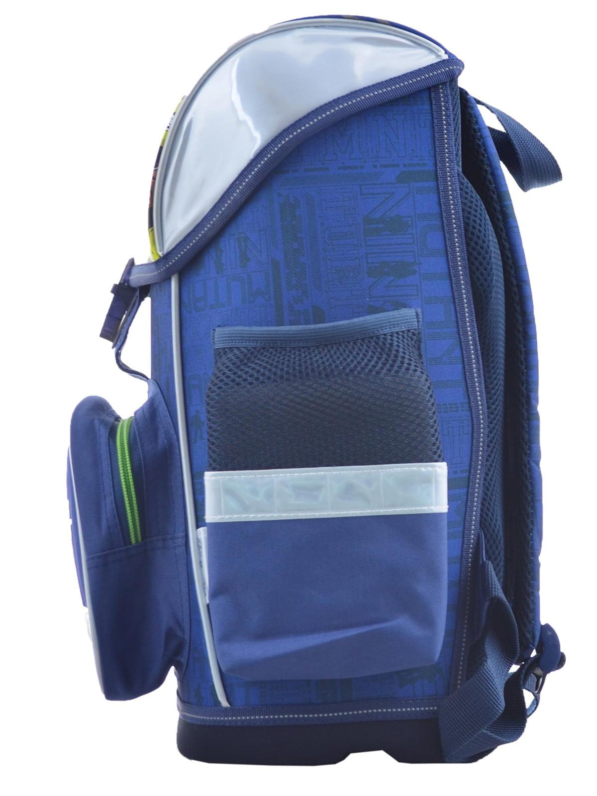 Рюкзак синій з принтом | 4235775 | фото 3