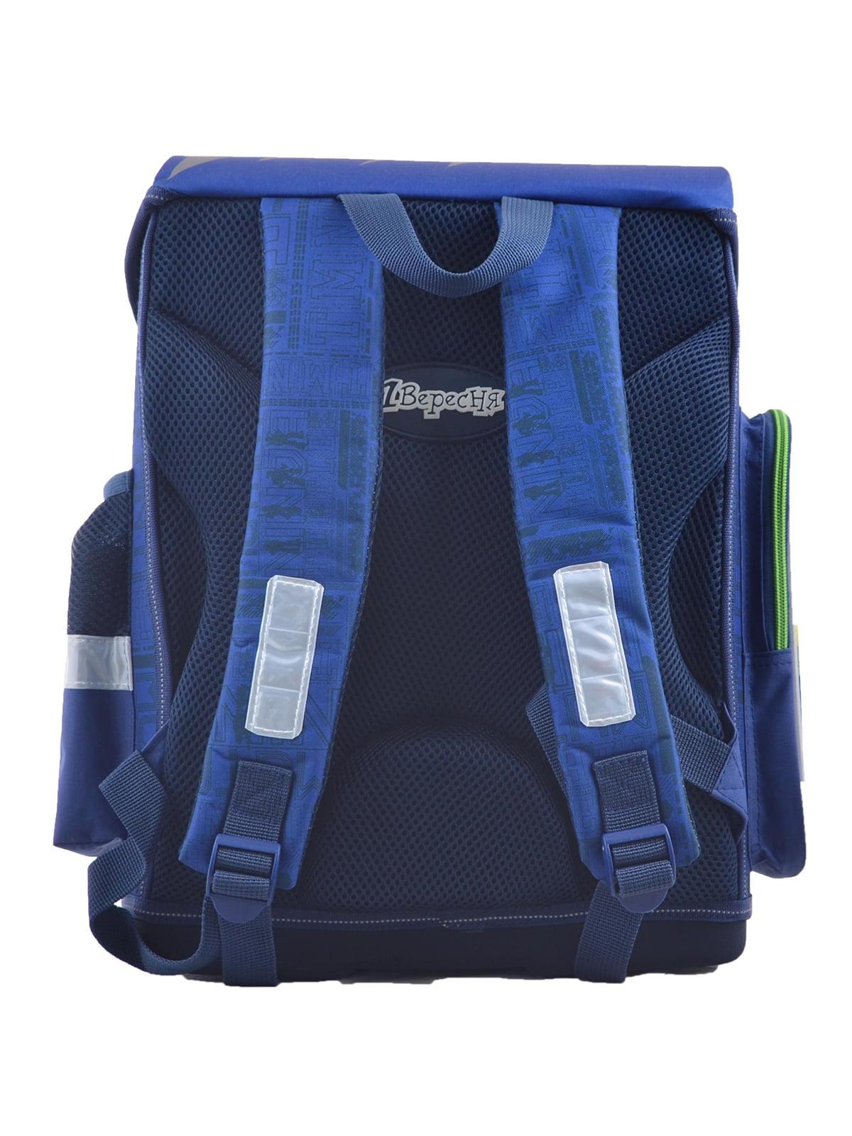Рюкзак синій з принтом | 4235775 | фото 4