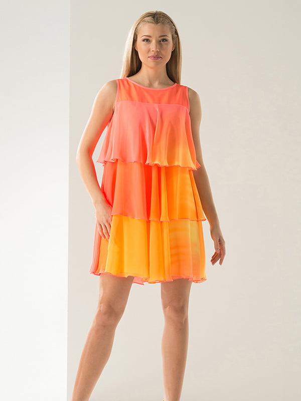Сукня жовто-персикова | 4068403