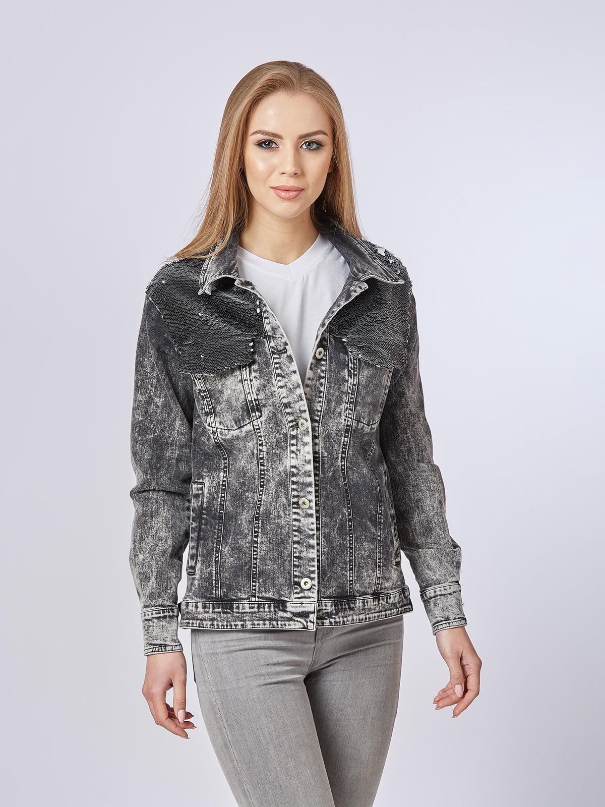 Куртка сіра | 4237535