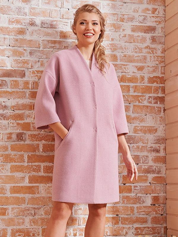 Пальто розовое | 4068313 | фото 3