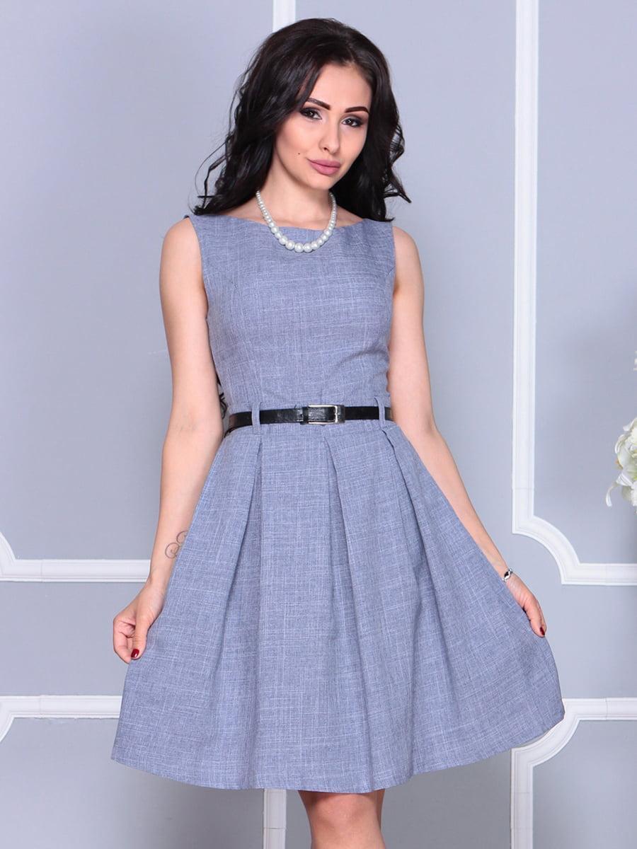 Сукня кольору фіолетового серпанку | 4238432