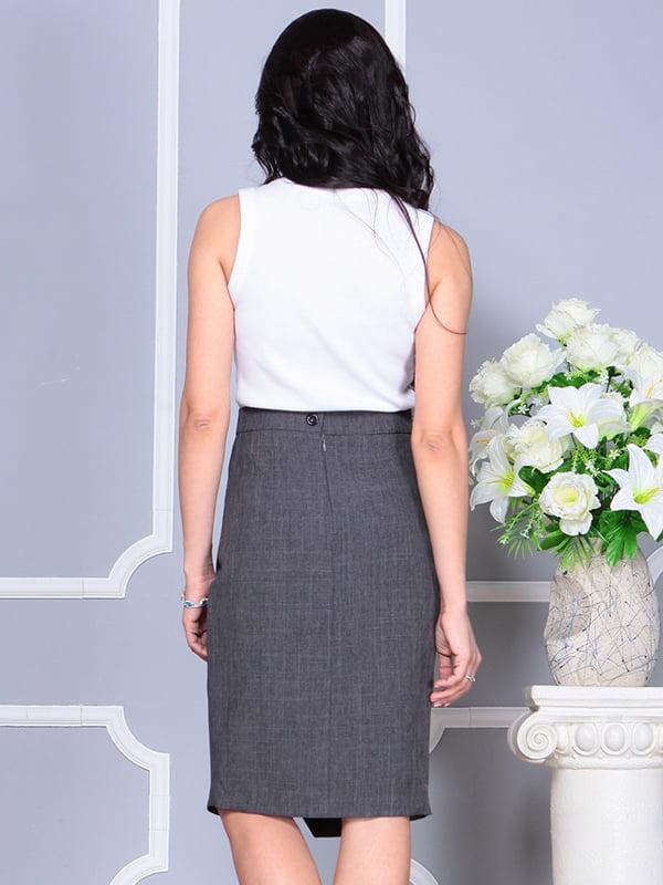 Платье бело-графитового цвета | 4238437 | фото 2