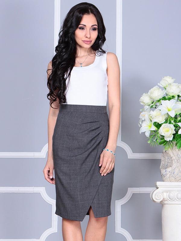 Платье бело-графитового цвета | 4238437 | фото 3