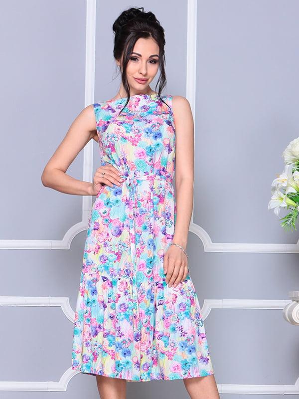 Платье в цветочный принт | 4238450