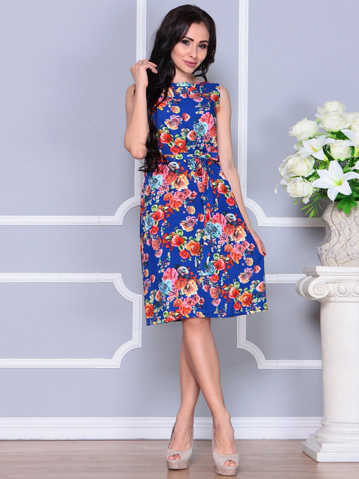 Платье в цветочный принт | 4238467
