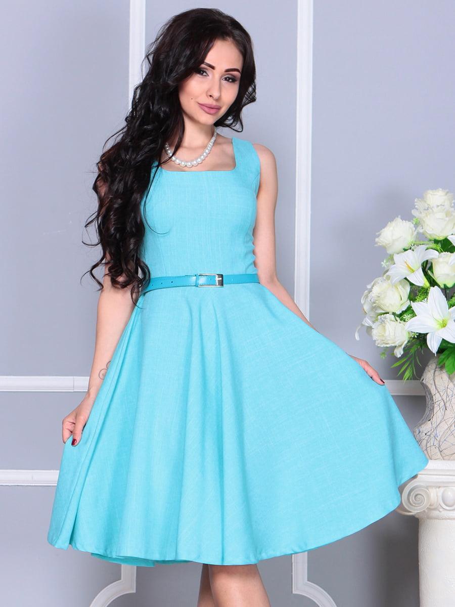 Сукня світло-бірюзова | 4238472