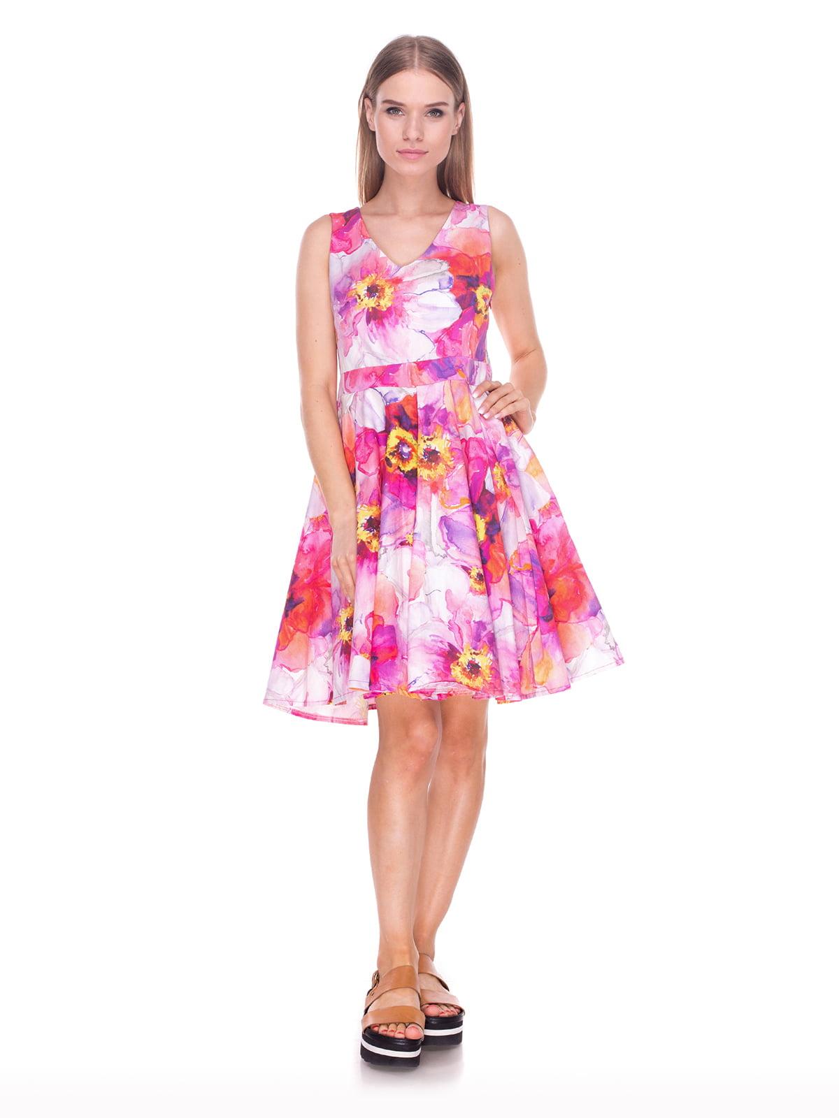 Платье в цветочный принт | 4235099