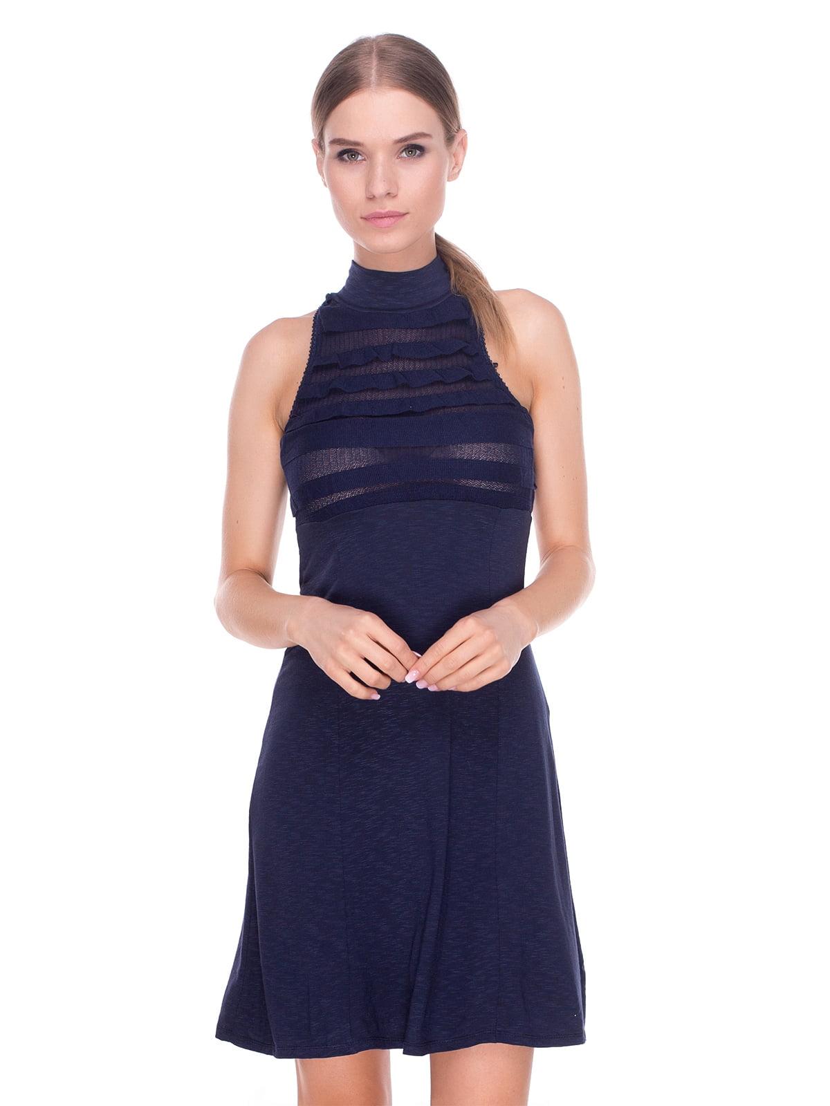 Платье темно-синее | 4235078