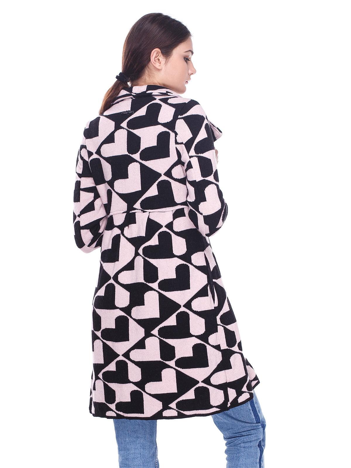 Пальто розово-черное в принт | 2997435 | фото 2