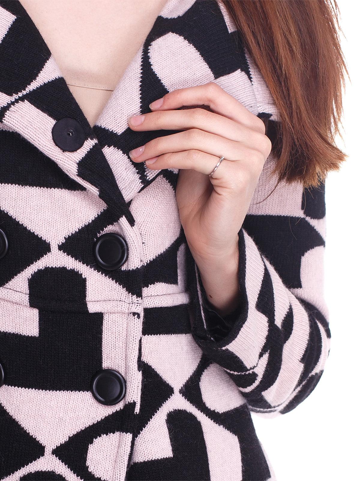 Пальто розово-черное в принт | 2997435 | фото 3