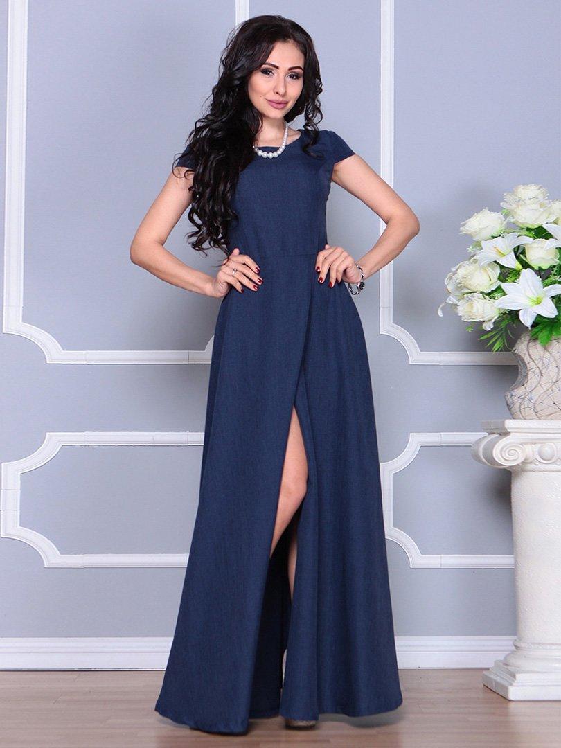 Платье темно-синее | 4246223