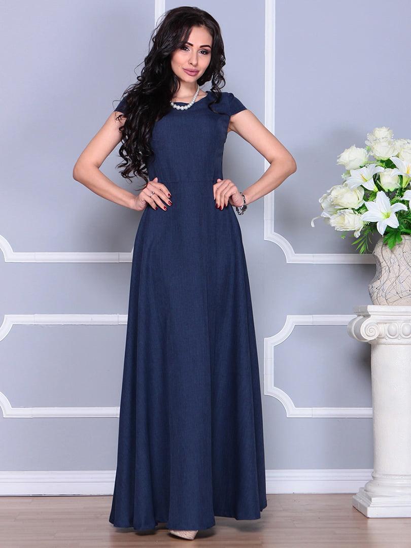 Платье темно-синее | 4246223 | фото 3