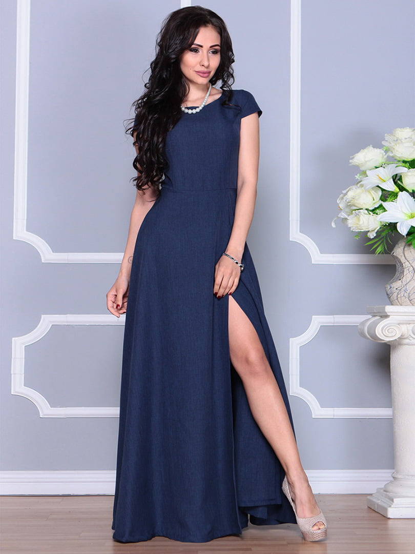 Платье темно-синее | 4246223 | фото 4