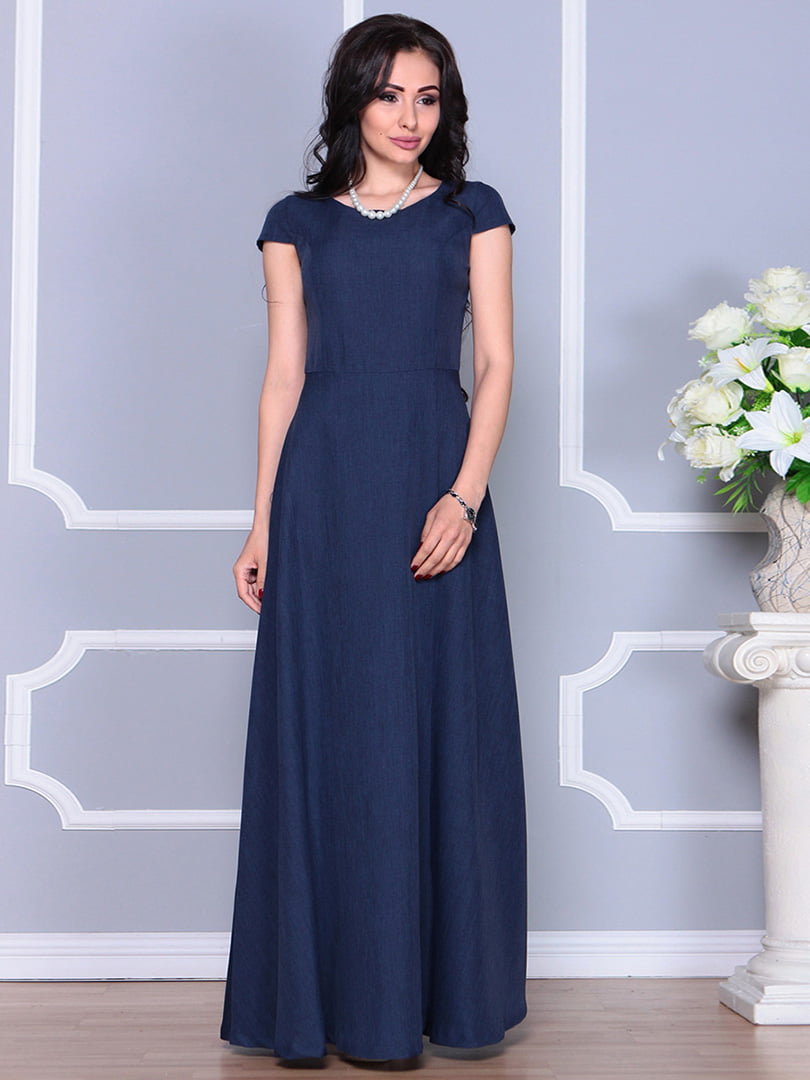 Платье темно-синее | 4246223 | фото 5