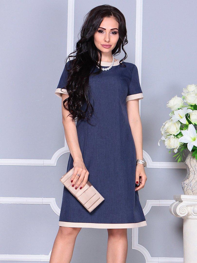 Платье темно-синее | 4246227