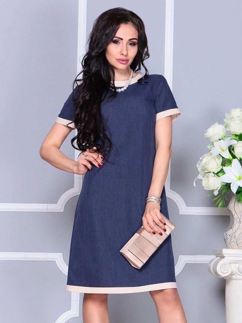 Платье темно-синее | 4246227 | фото 3