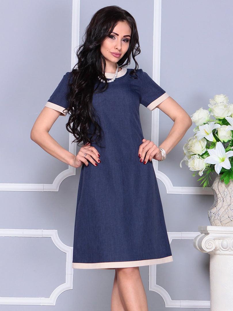 Платье темно-синее | 4246227 | фото 5