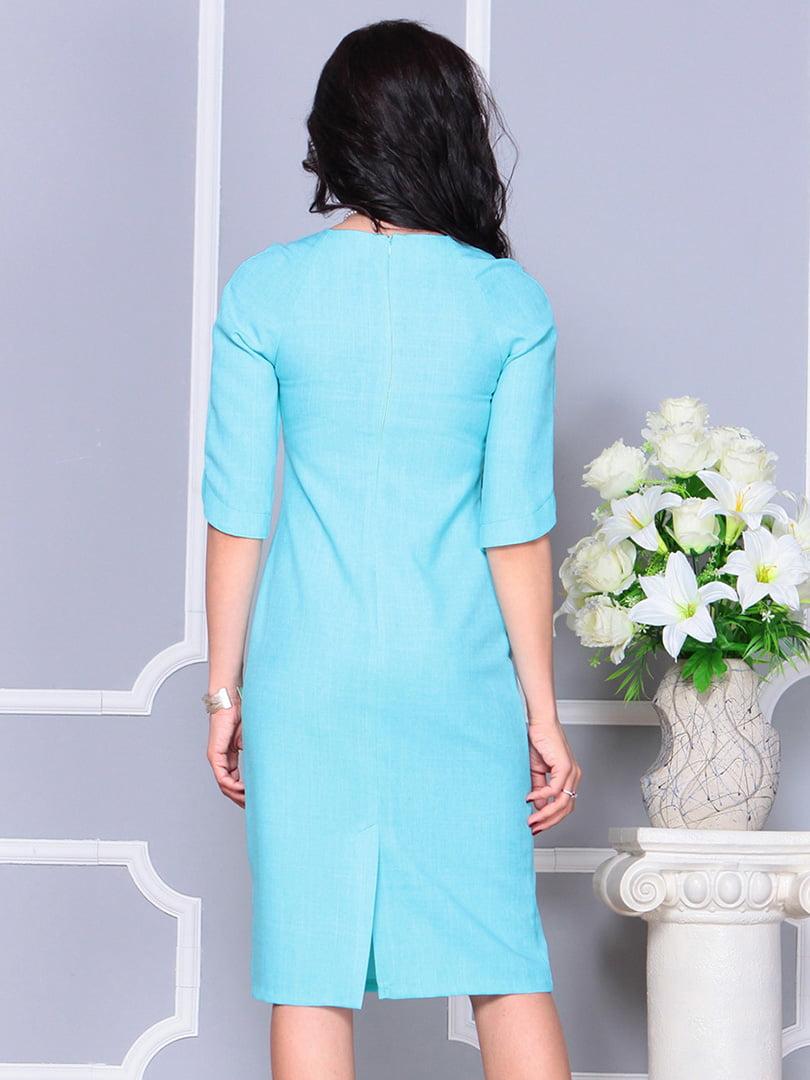 Платье ментолового цвета | 4246229 | фото 2