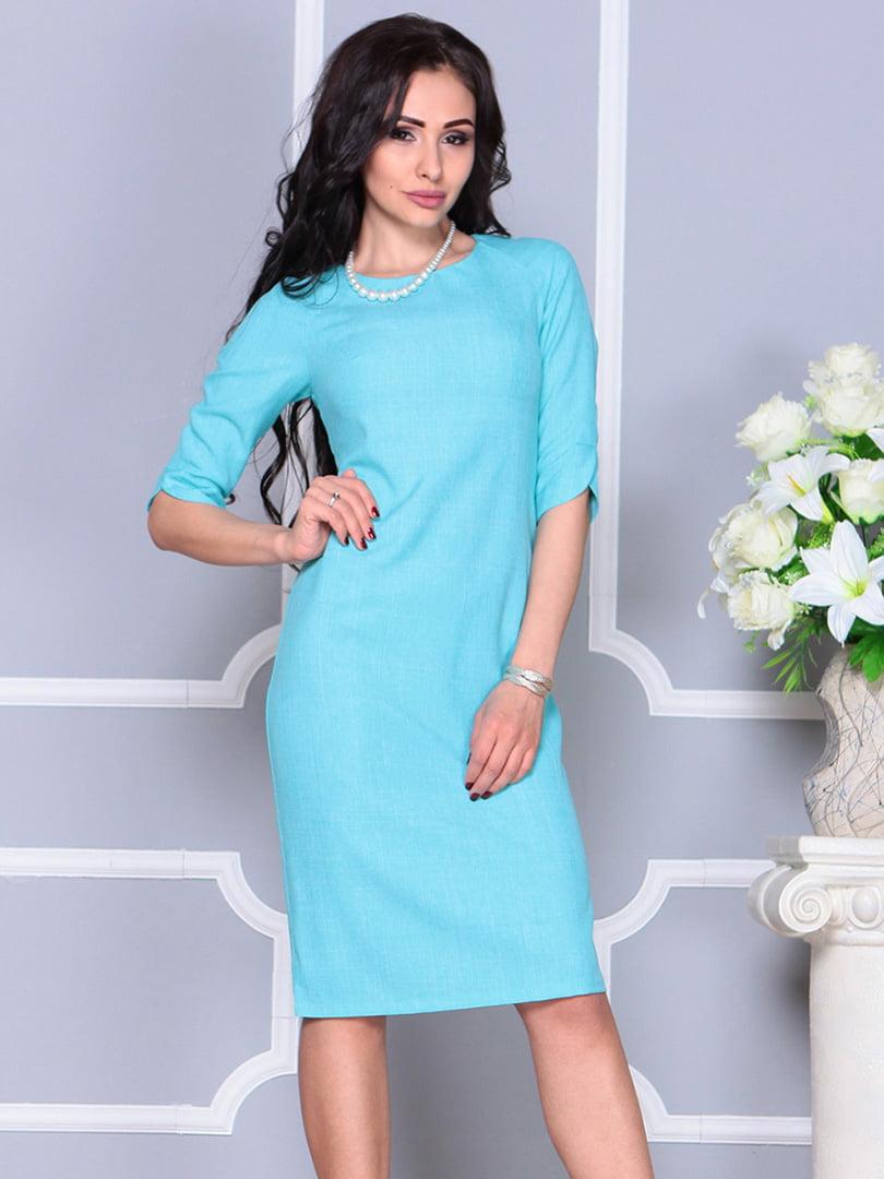 Платье ментолового цвета | 4246229 | фото 3