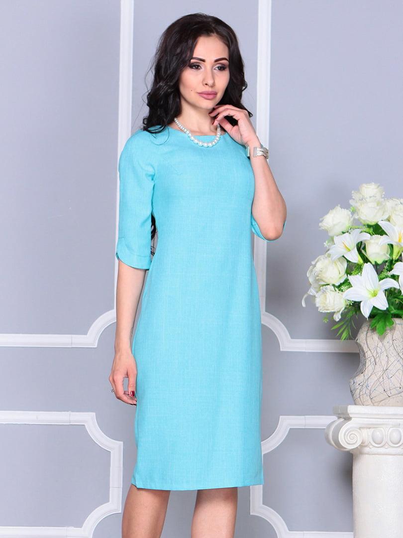 Платье ментолового цвета | 4246229 | фото 4