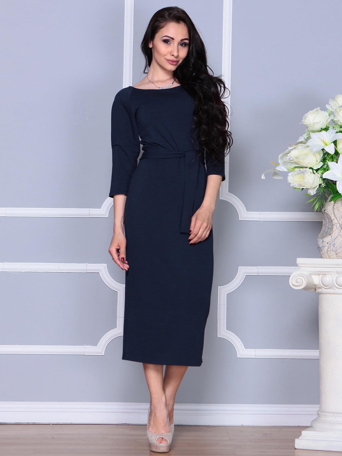 Платье темно-синее | 4249509