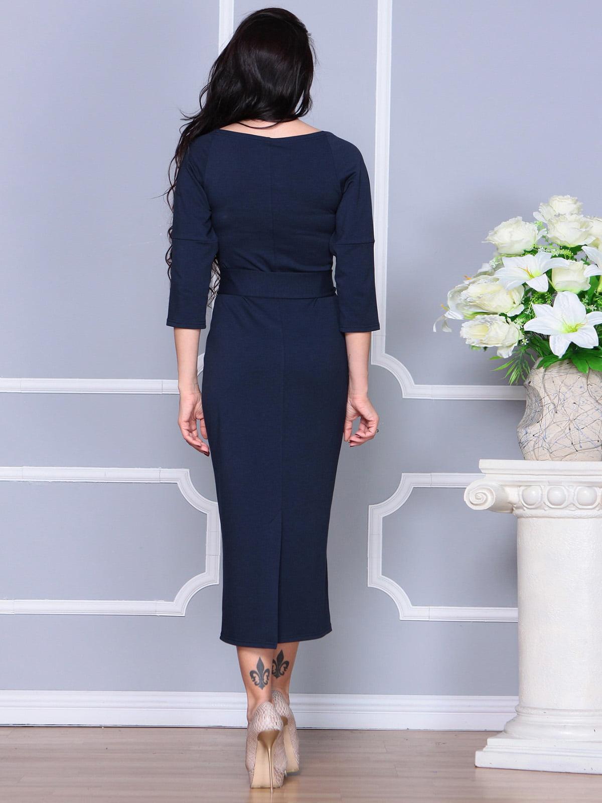 Платье темно-синее | 4249509 | фото 2
