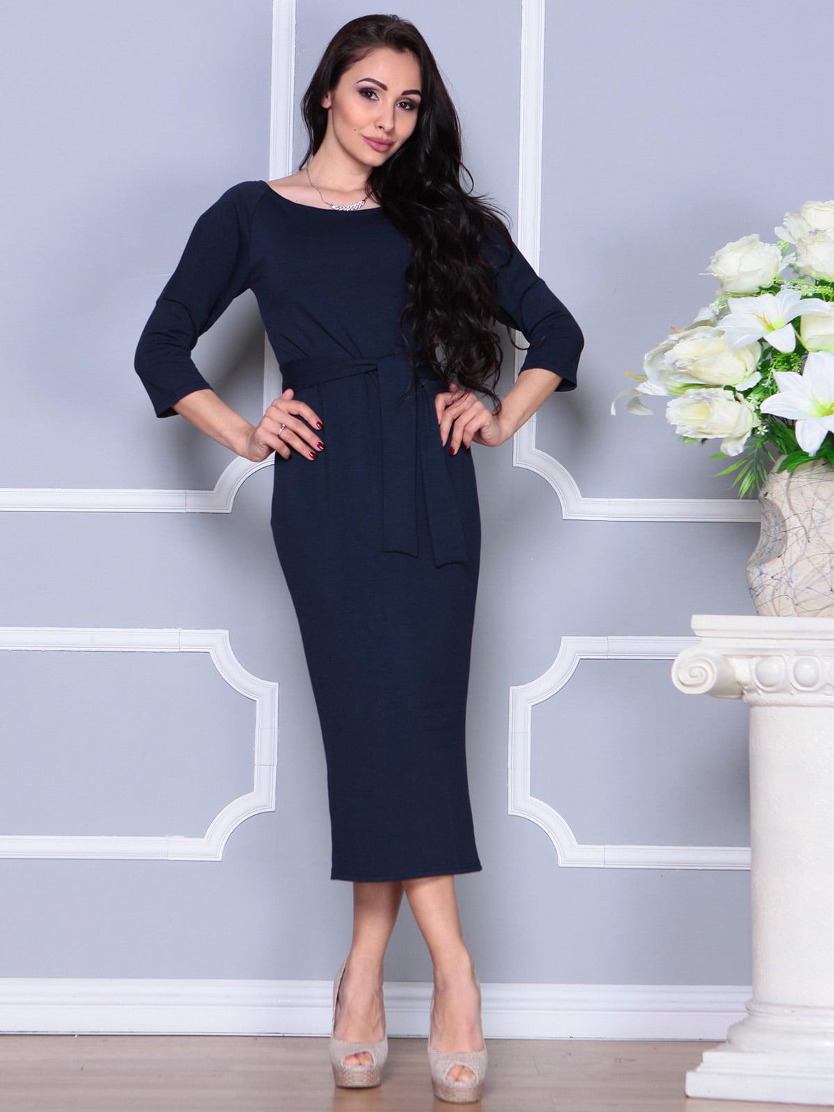Платье темно-синее | 4249509 | фото 3