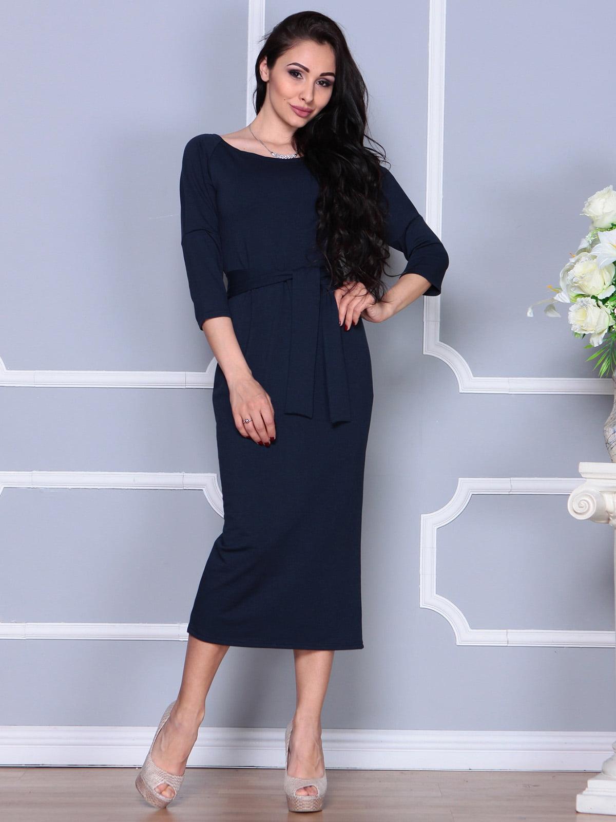 Платье темно-синее | 4249509 | фото 4