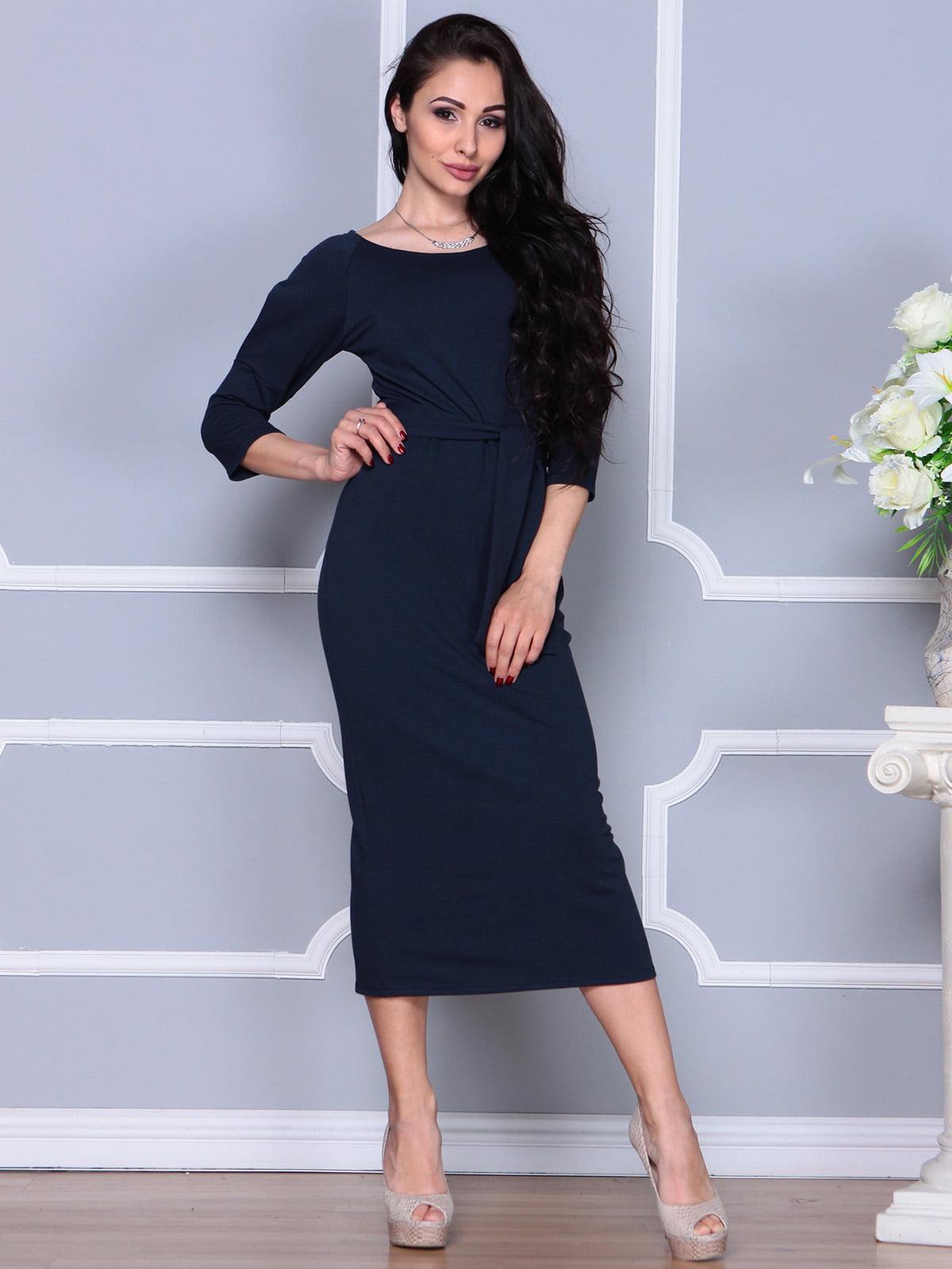 Платье темно-синее | 4249509 | фото 5