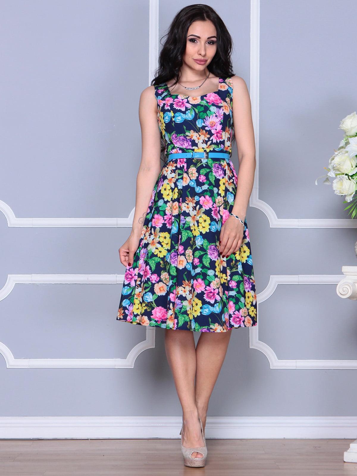 Платье в цветочный принт | 4249524
