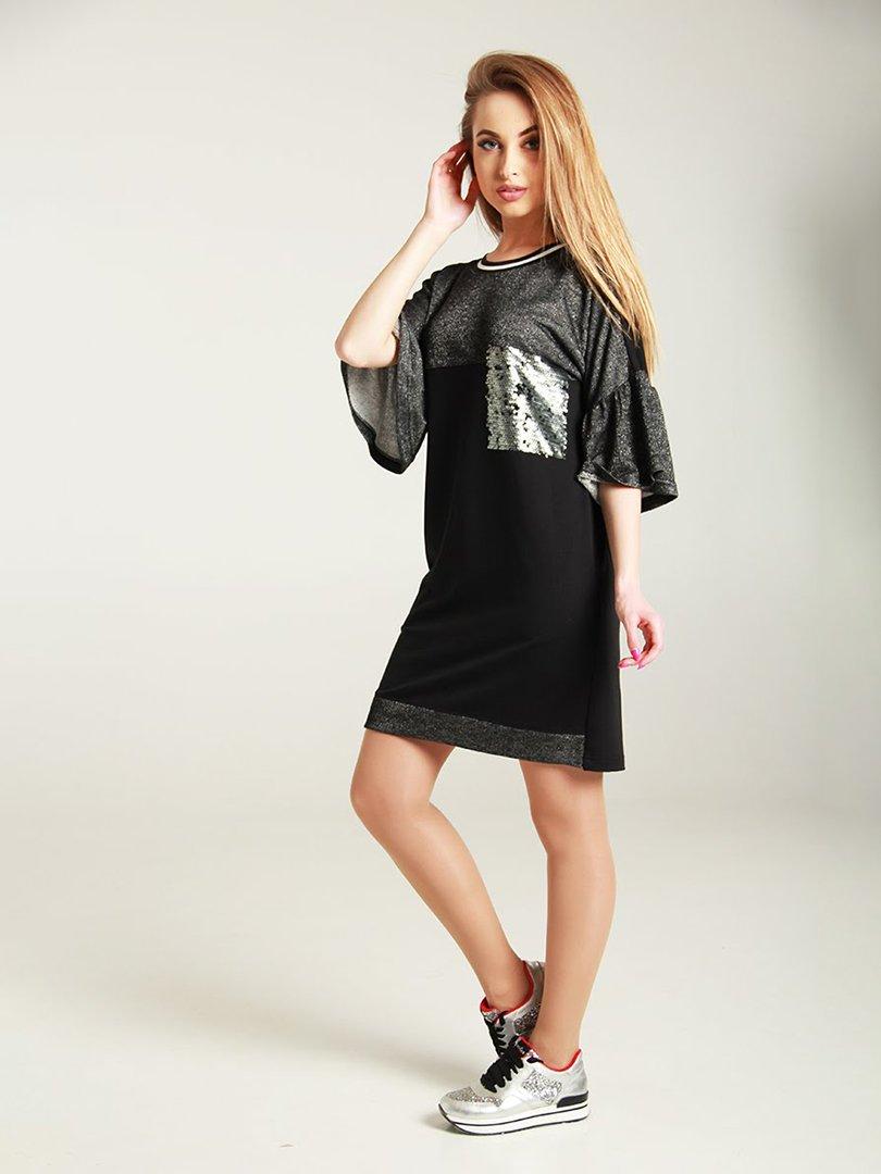 Сукня чорно-сіра | 4250747