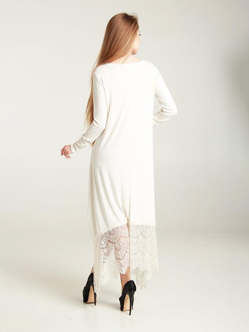 Платье молочного цвета | 4250774 | фото 2