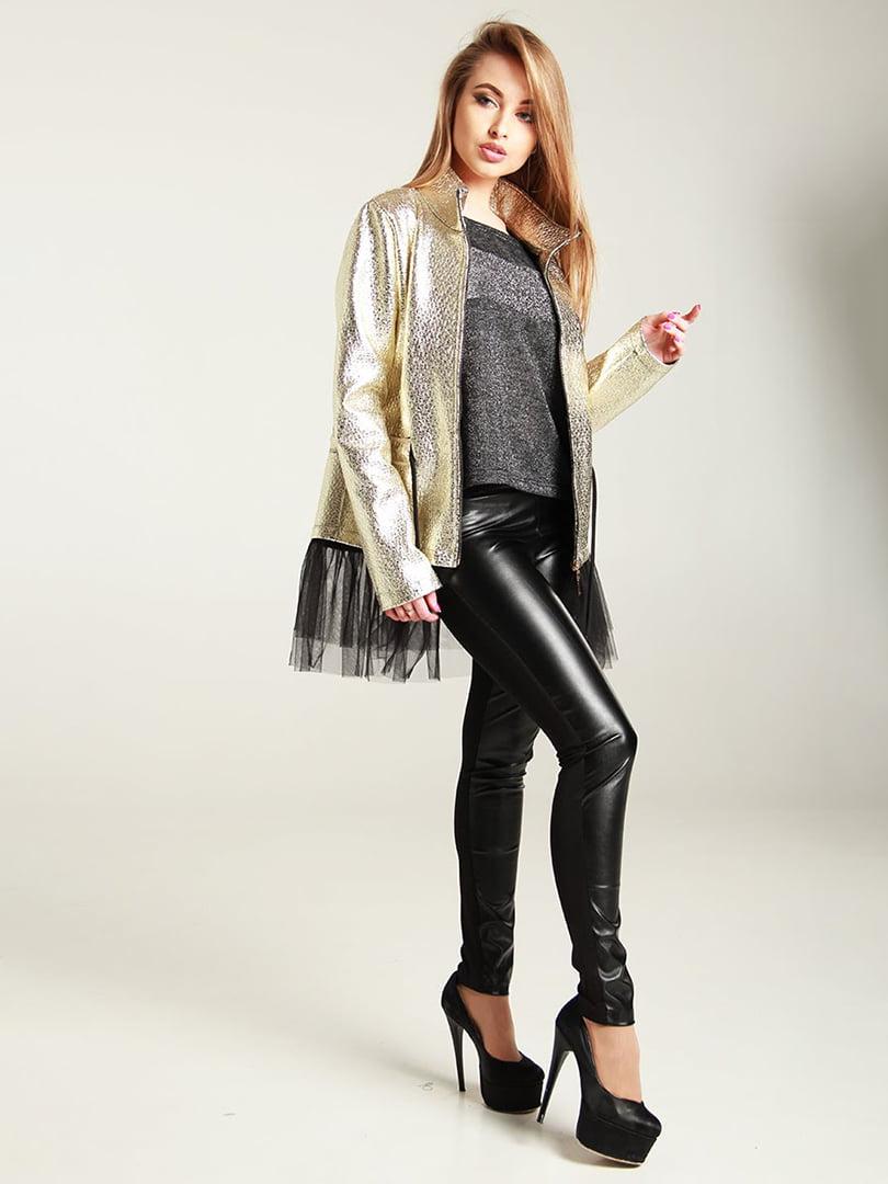 Куртка золотистая | 4250851 | фото 4