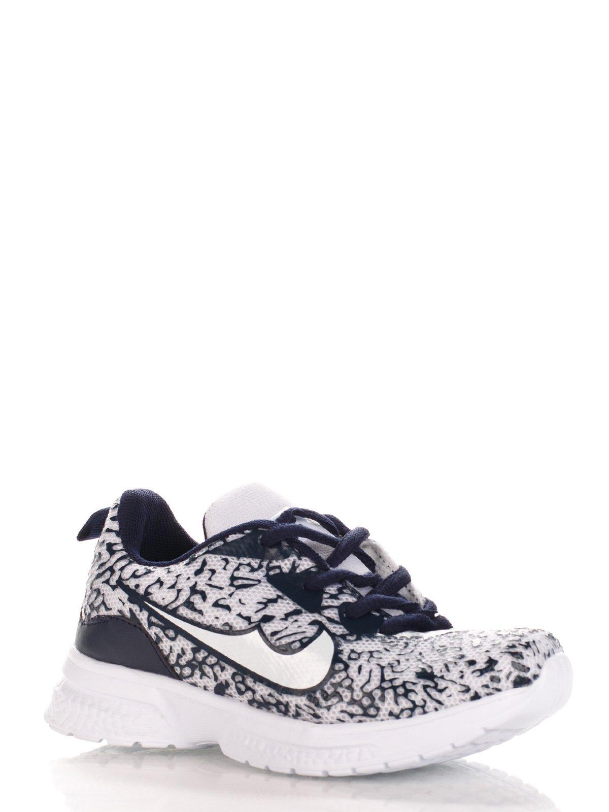Кросівки темно-сині в принт | 3902799
