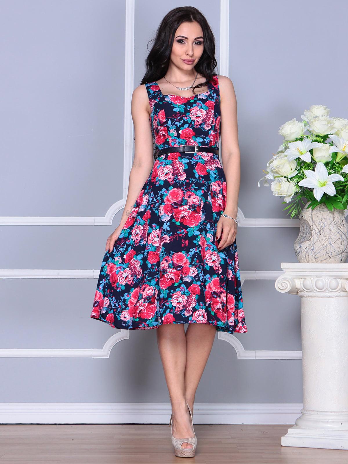 Платье в цветочный принт | 4255849