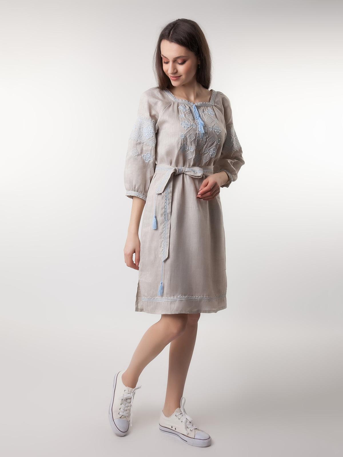 Платье бежевое | 4261322