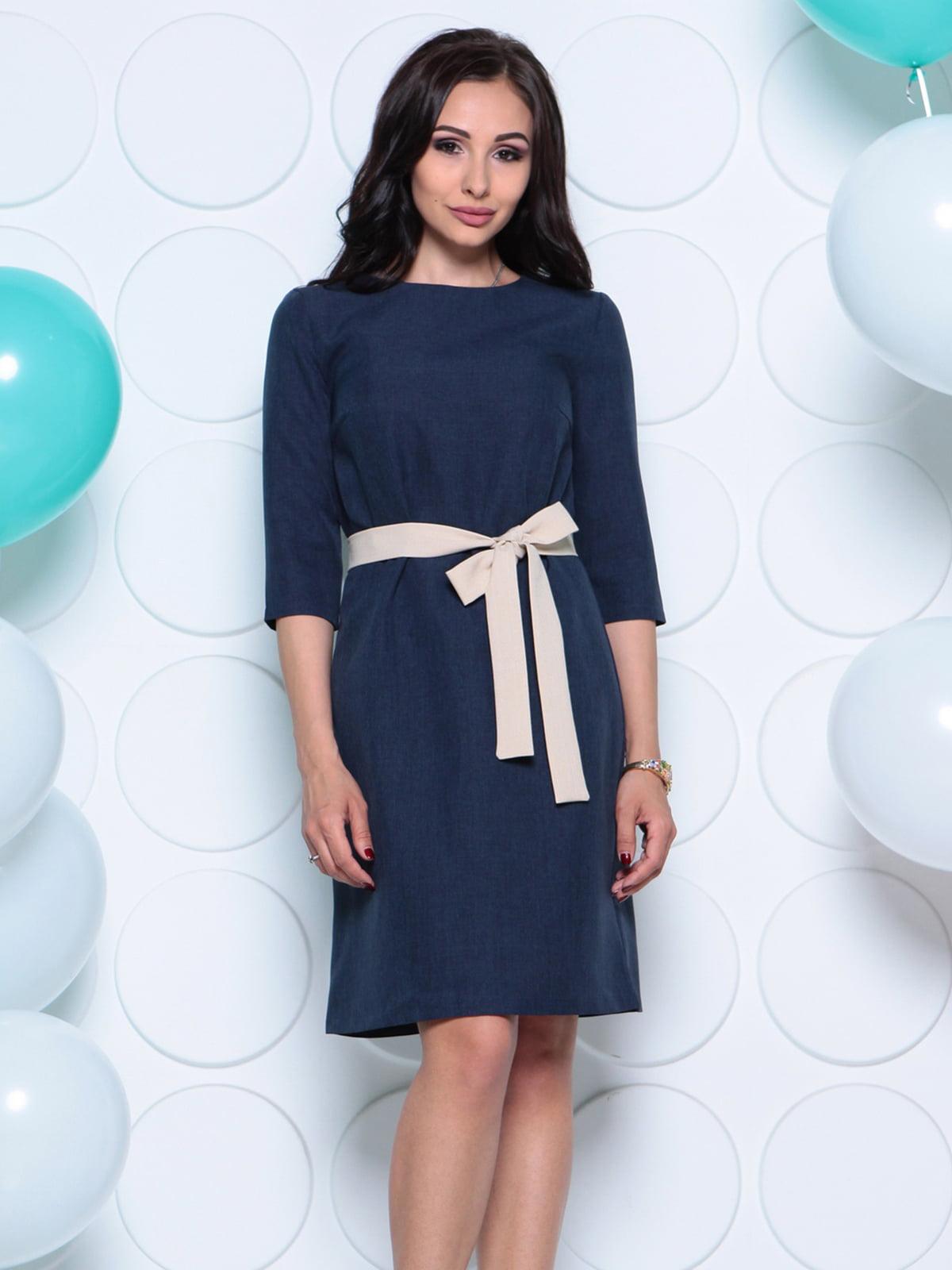 Платье темно-синее | 4261214