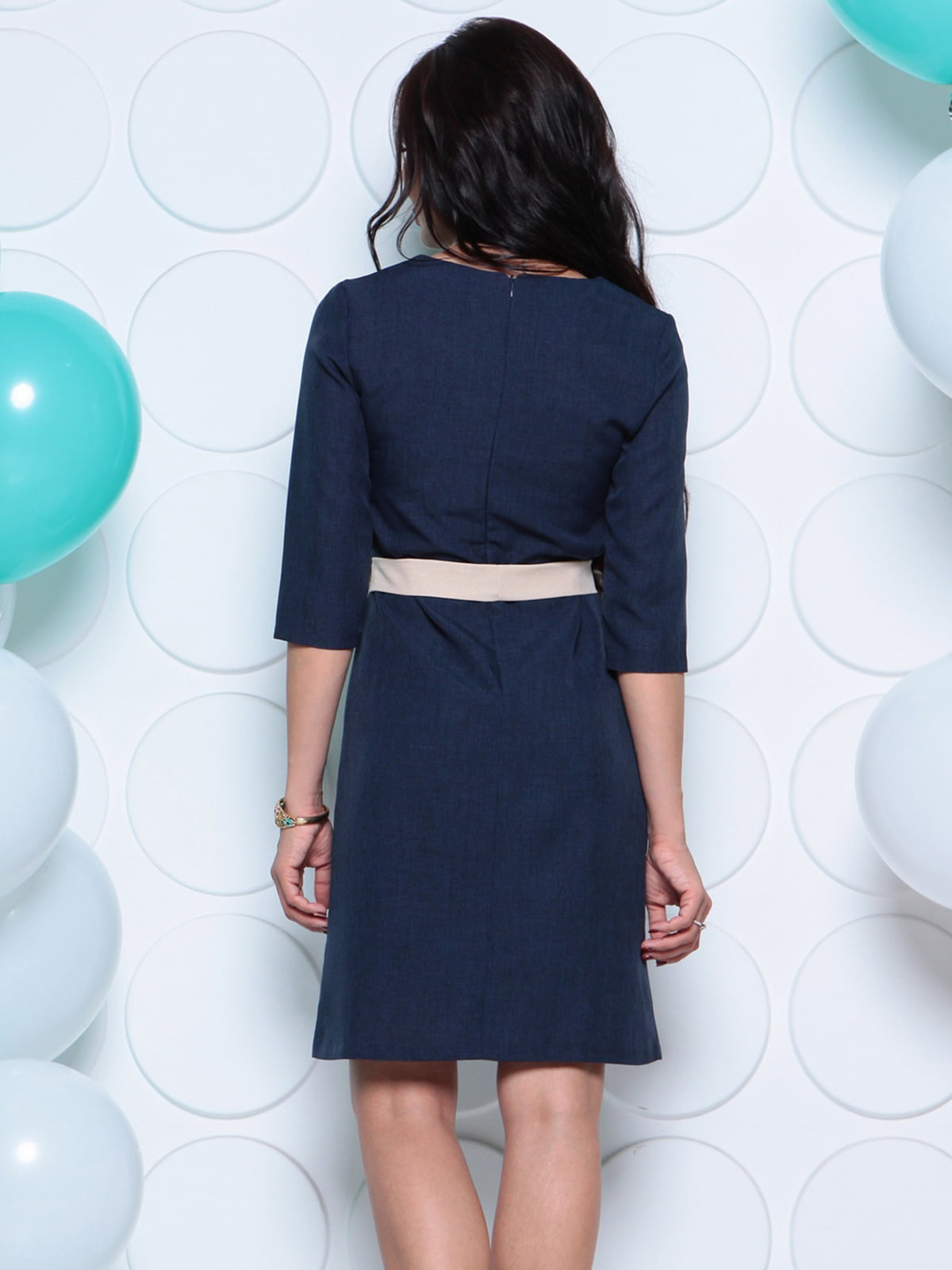 Платье темно-синее | 4261214 | фото 2