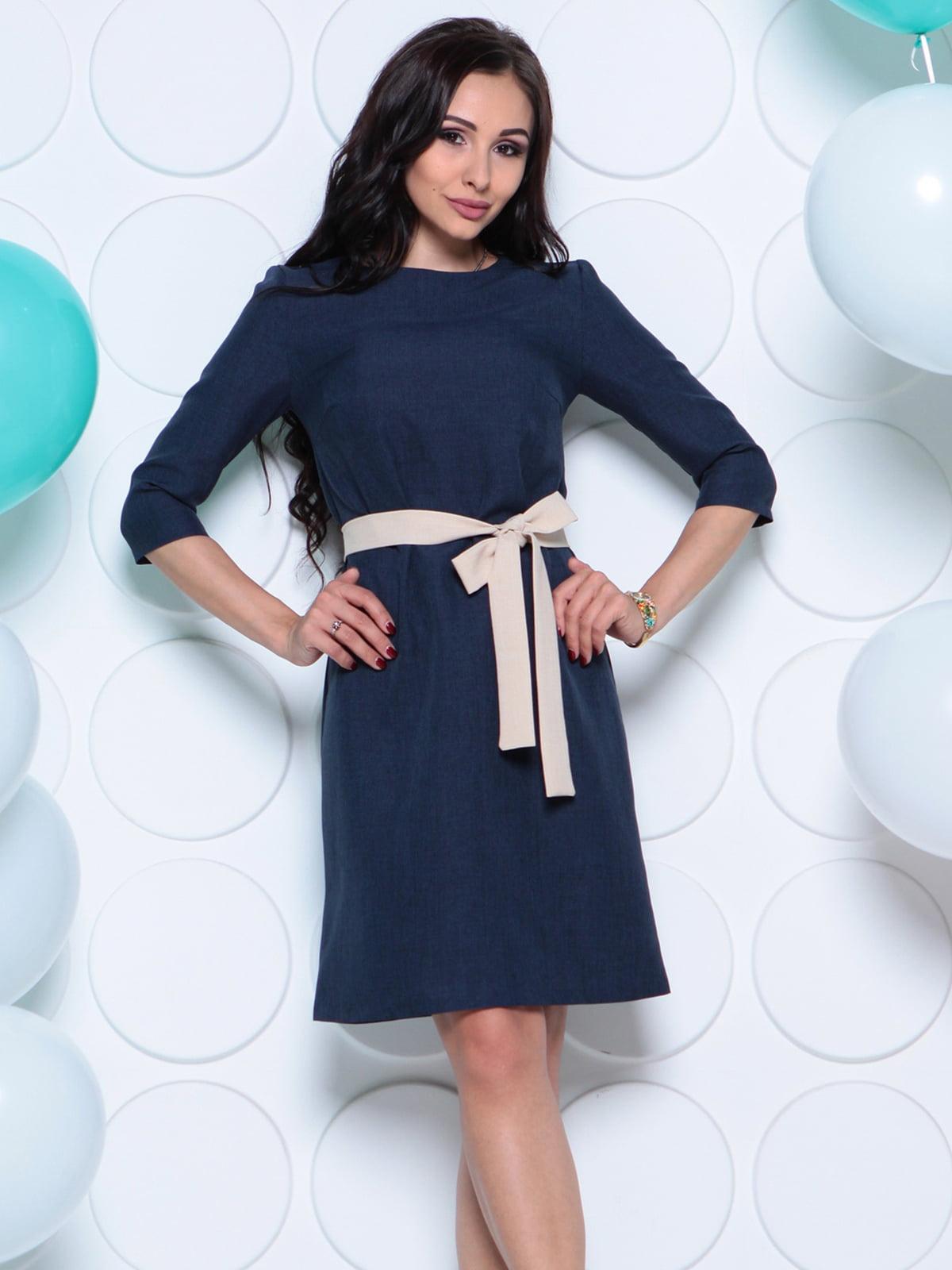 Платье темно-синее | 4261214 | фото 3