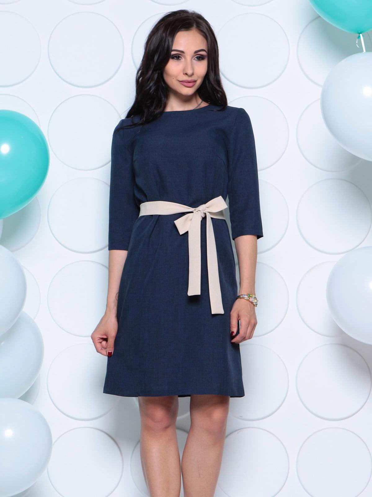 Платье темно-синее | 4261214 | фото 4