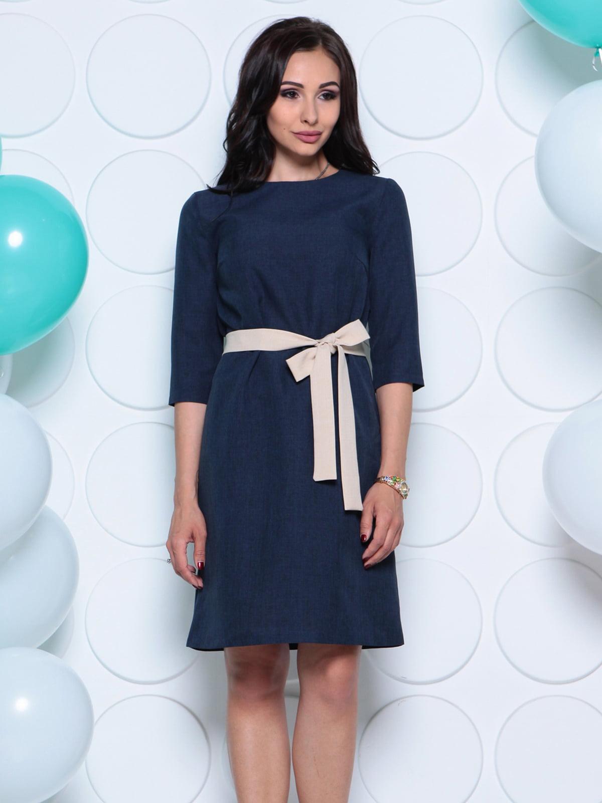 Платье темно-синее | 4261214 | фото 5