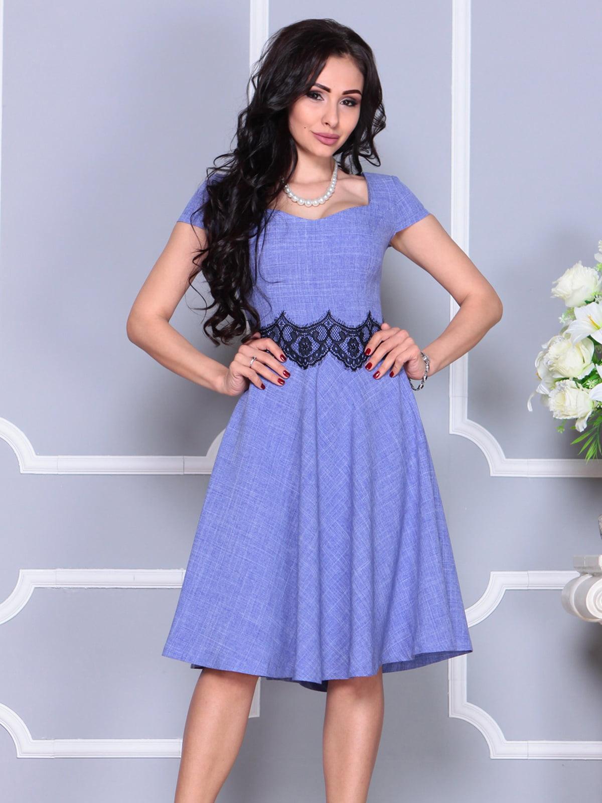 Платье фиолетовое | 4261218 | фото 3